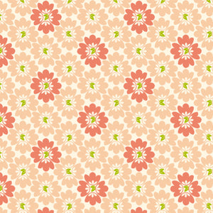Bundles of Blooms in Blushing Pink and Blush - Cotton Fabric By The Yard