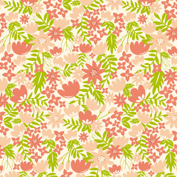 Garden Soiree in Blushing Pink and Blush - Cotton Fabric By The Yard