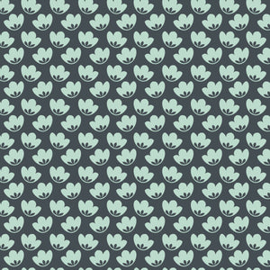 Honey Blooms in Dusk Blue - Cotton Fabric By The Yard