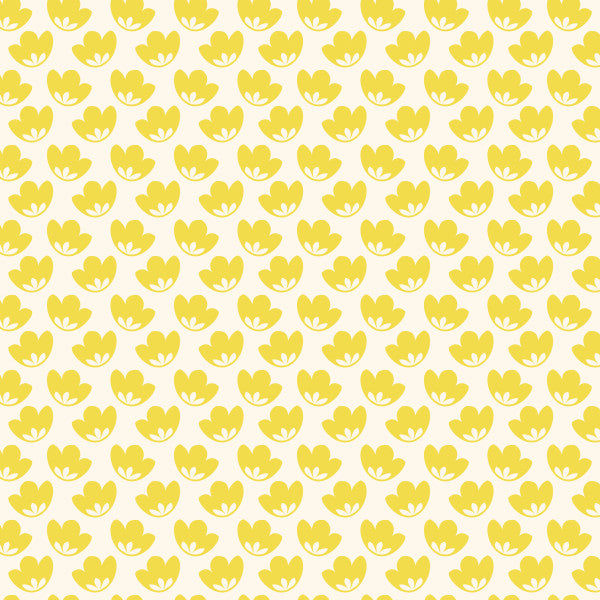Honey Blooms in Golden - Cotton Fabric By The Yard