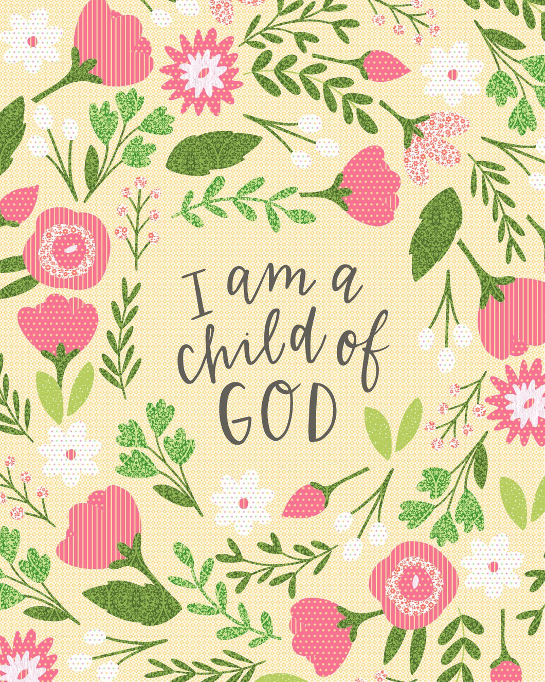 I am a Child of God Ready to Quilt Fabric Panel