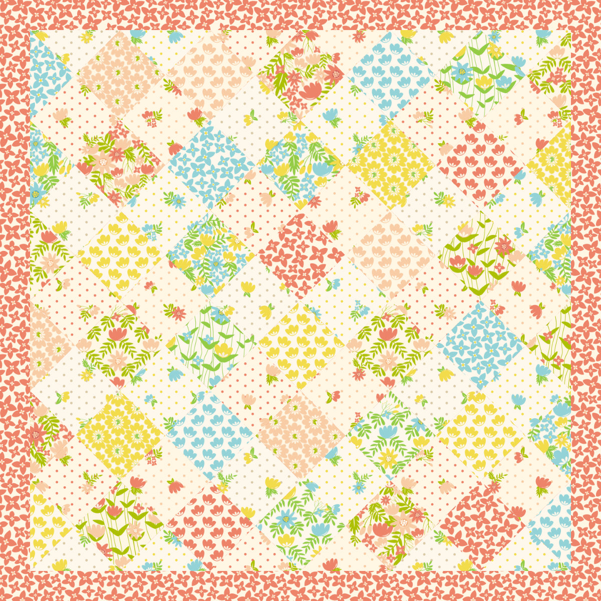 English Garden - 40 x 40 Ready-To-Quilt Fabric Panel