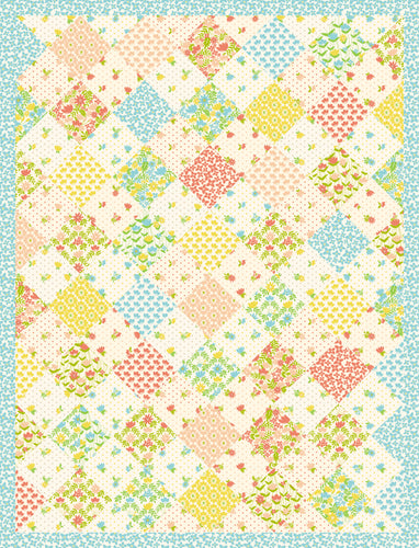 The Jessica Quilt - 54 x 71 Ready-To-Quilt Fabric Panel