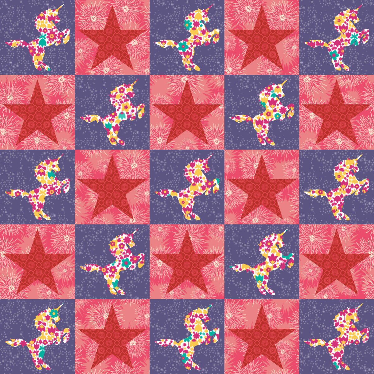 Unicorn - 36 x 36 Ready-To-Quilt Fabric Panel