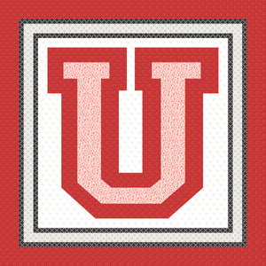 University of Utah - 56 x 56 Ready-To-Quilt Fabric Panel