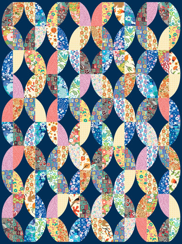 Metro Twist Ready to Quilt Fabric Panel in Multicolor