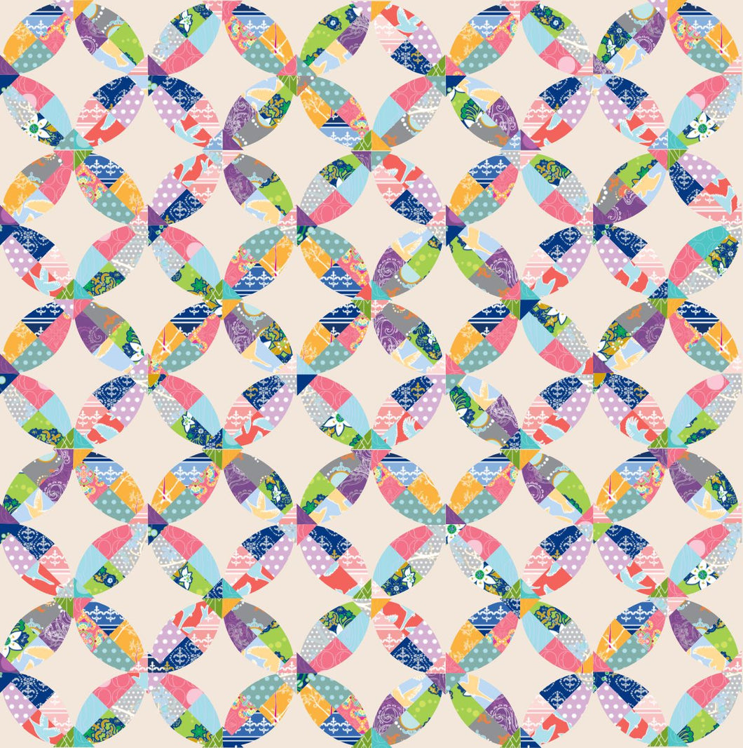 Chic Picnic Ready to Quilt Fabric Panel in Multicolor