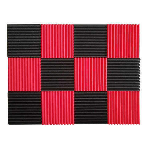 Soundproofing Foam Acoustic Tiles Studio Sound Proof 12 Pcs