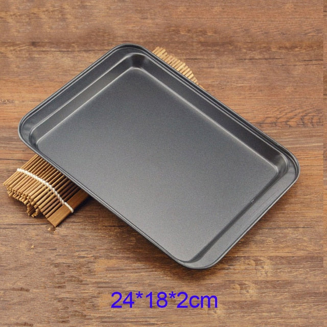 Pizza Dish Cookie Pan Bread Loaf Pans Nonstick Cake Baking Tray