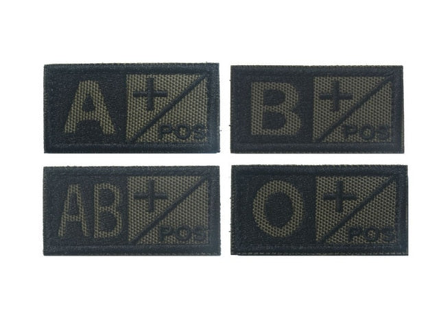 A+ B+ AB+ O+ Positive POS A- B- AB- O- Negative NEG Blood Type Group Patch