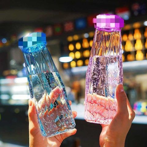 Colorful Crystal Diamond Couple Cup Water Glass Crystal Water Bottle Hydro Flask