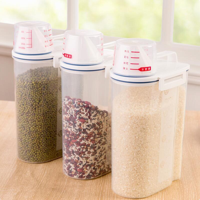 2L Plastic Cereal Dispenser Storage Container - Reusable Container