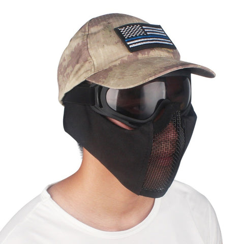 Tactical Half Face Metal Steel Net Mesh Mask - Tactical Mask
