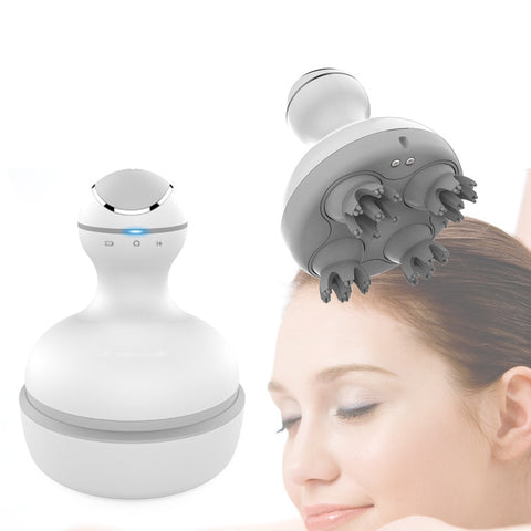 3D Waterproof Electric Head Massager - Wireless Scalp Massage