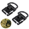 2Pcs Tactical Airsoft D-ring Clips Buckle