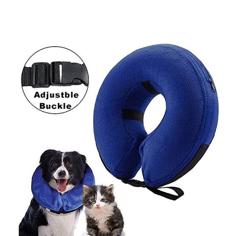 Inflatable Collar DogCat Soft  Collar - Pet Puppy Medical Head Cone