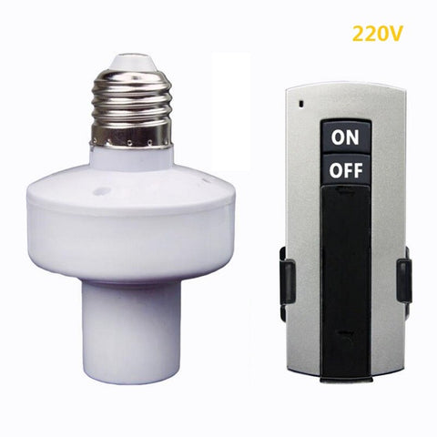Wireless Remote Control - Light Lamp Bulb Holder Cap Socket Switch