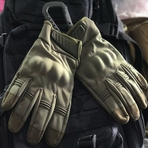 Outdoor Waterproof Gloves - Tactical Military Hard Knuckle Full Finger Gloves