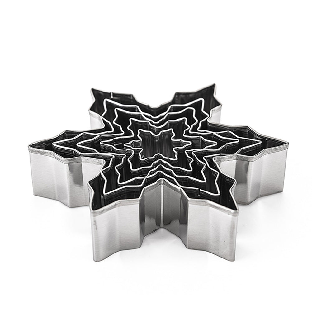 5Pcs Christmas Snowflake Stainless Steel Cookie Cutter