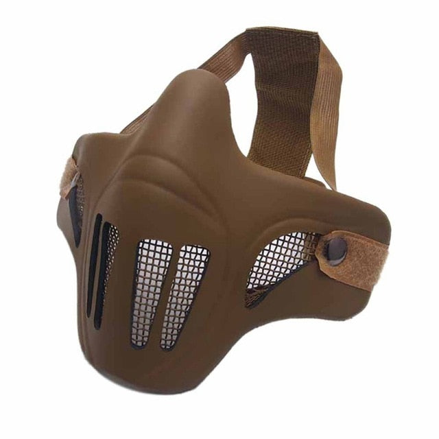 Half Face Tactical Protective Mask - Tactical Protective Airsoft Masks