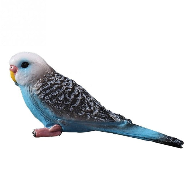 Mini Parrot cute Bird Decor Figurine