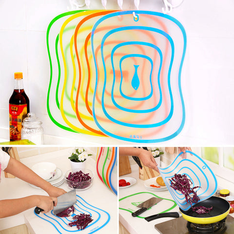 Plastic Chopping Board Non-slip Kitchen Cutting Board Vegetable & Meat