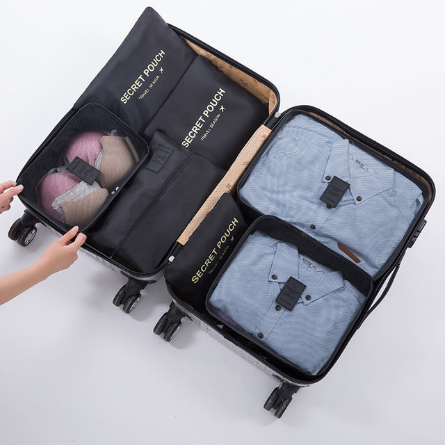 7Pcs Travel Suitcase Organizer