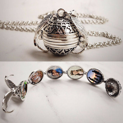 5 Photo Locket Family Tree Necklace - Photo Locket for Family