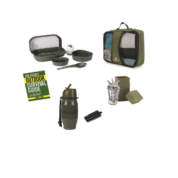Snugpak Survival 5 Piece Camp Set in Carrying Case- Olive