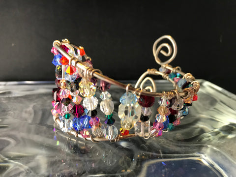 Sterling Silver Bracelet  with Swarovski Crystals