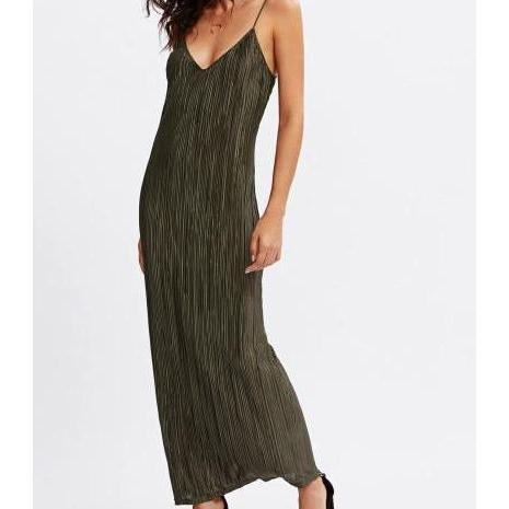 AVA Pleated Cami Dress-Dress-Radical Behaviour
