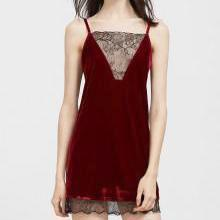 EDNA Lace Trim Velvet Slip.-Dress-Radical Behaviour