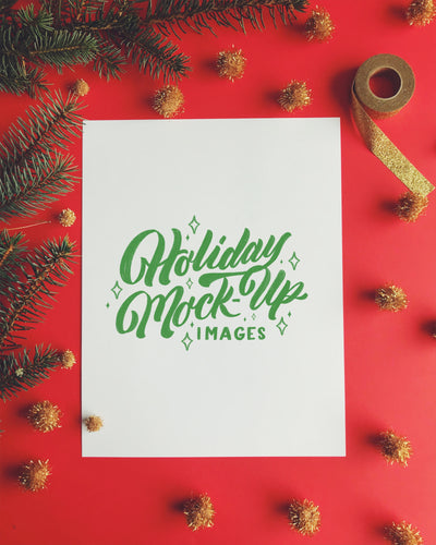 Holiday Mock-up Images