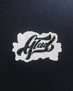 Glad - Die Cut Sticker