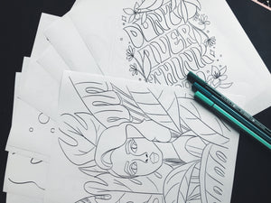 10 Coloring Pages [DIGITAL PRINT]