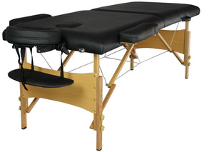 "Massage 2"" Pad 84"" Black Massage Table with Carry Case"