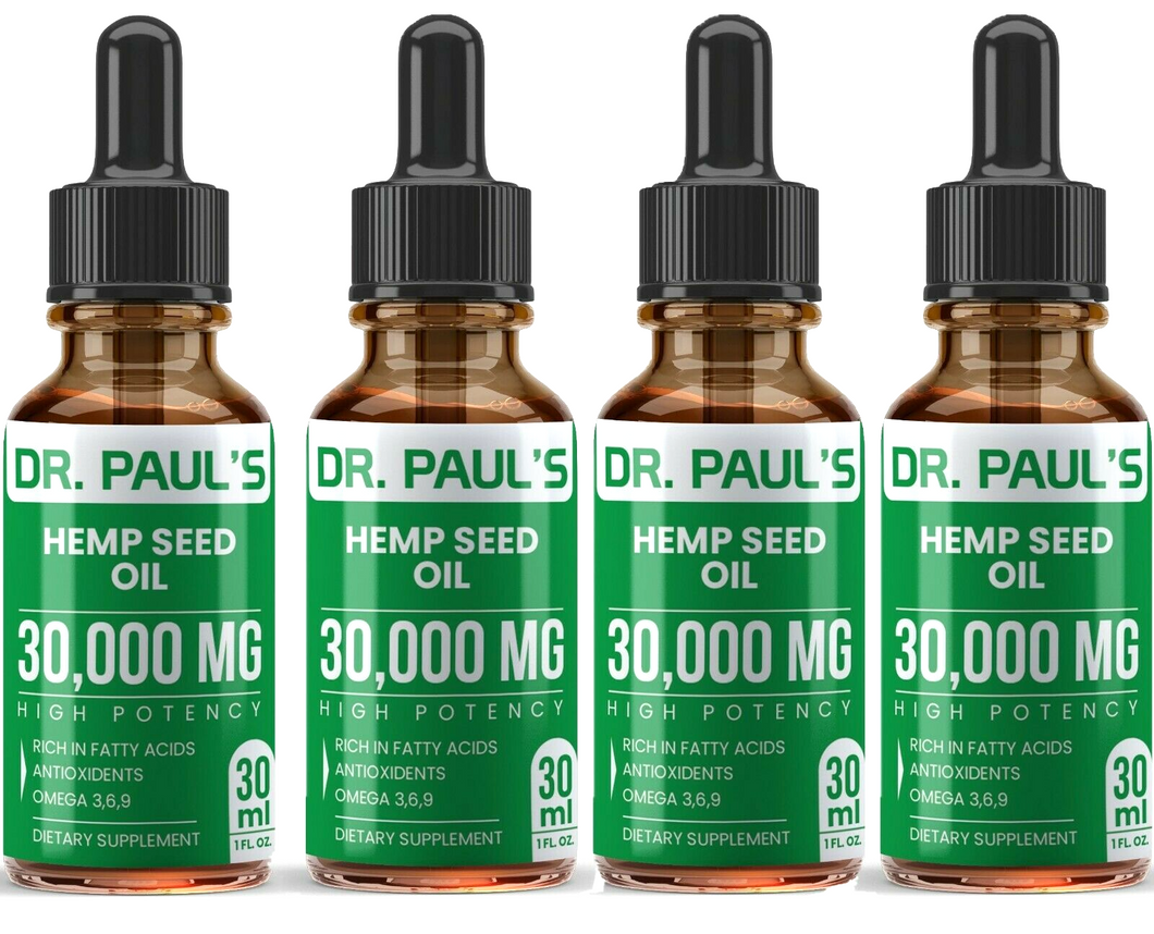 4 Pack - 1 oz Hemp Seed Oil Extract