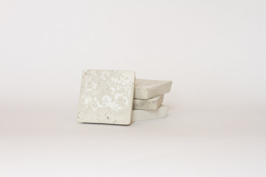 Square Coasters Natural Concrete