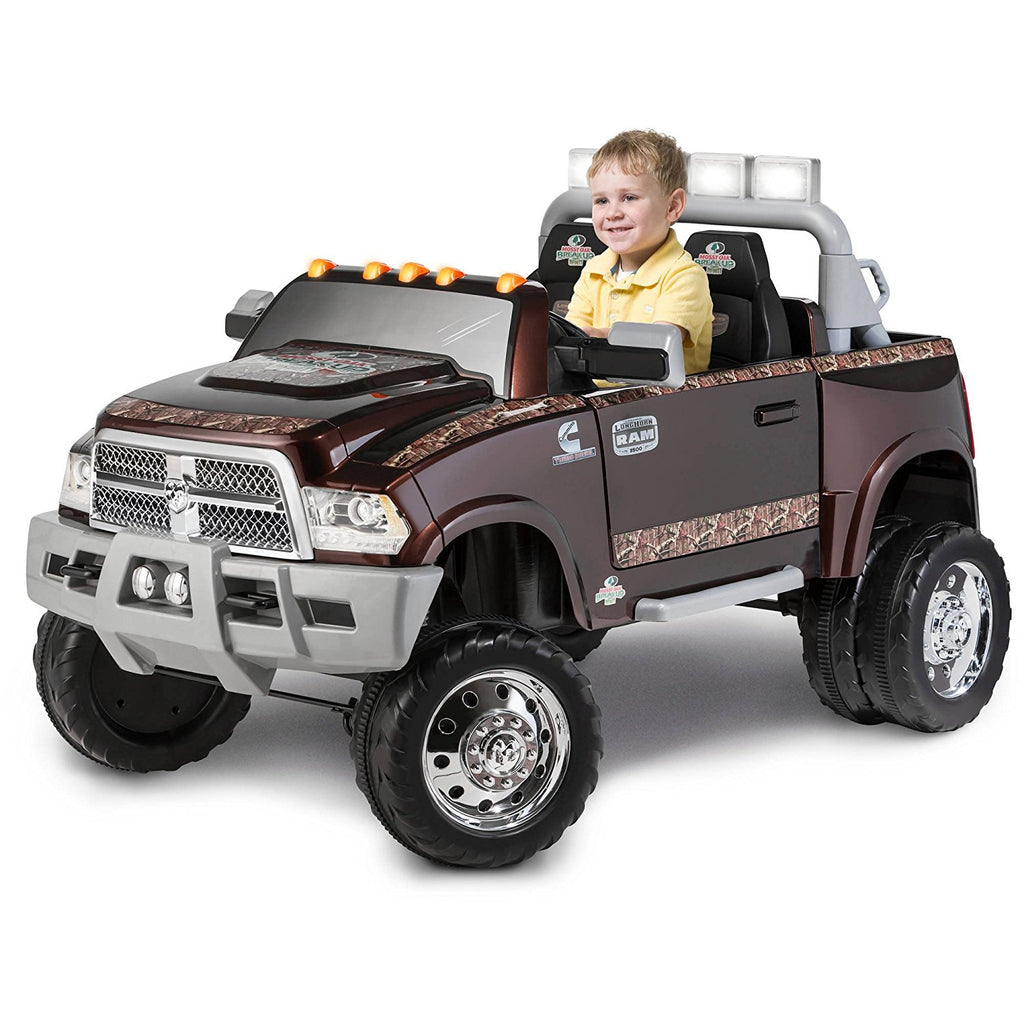 Dodge Ram 3500 Dually Longhorn Edition 12-Volt Battery-Powered Ride-On, Mossy Oak