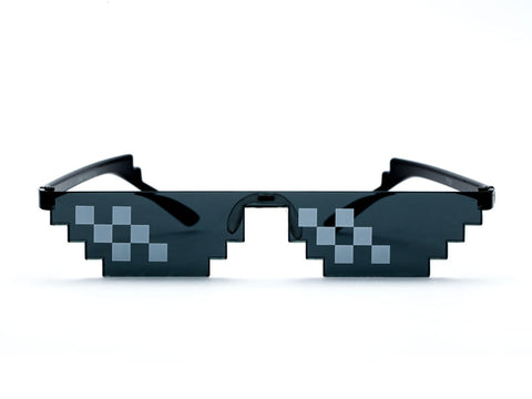 Thug Life Glasses Polygonal 8 Bits Style Pixel With Nose Pad - Pure Rebel Club