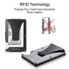 RFID-Blocking Slim Minimalist Card Holder/Travel Wallet For Credit Cards & More