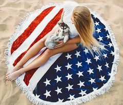USA Flag Picnic or Beach Blanket - Pure Rebel Club