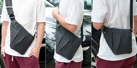 Multi Pocket Messenger Bag - Pure Rebel Club