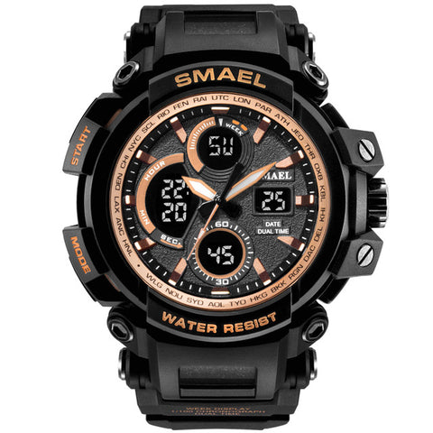 Military Watch Men Waterproof Dual Time Display - Pure Rebel Club