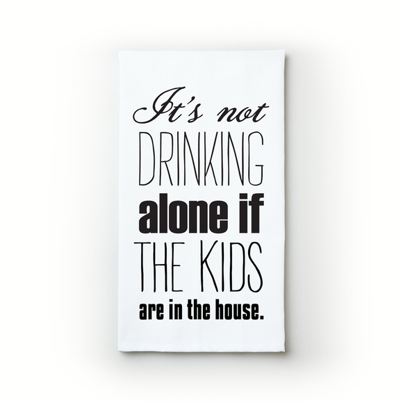 Drinking Alone - Kids - Teatowels.ca