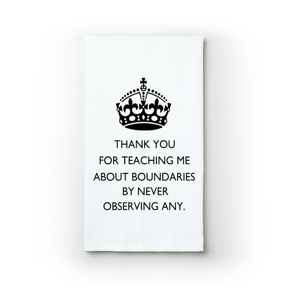 Boundaries - Teatowels.ca