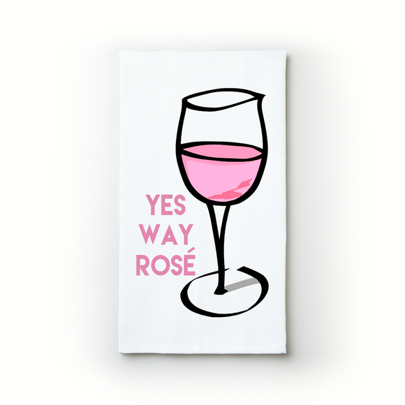 Yes Way, Rosé - Teatowels.ca