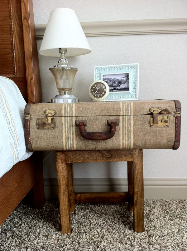 Vintage Charm - 31 Ways to Decorate with Antique Suitcases