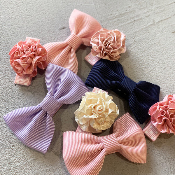 Mimi Ribbon Baby Hair Clips Set