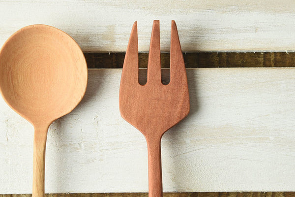 Slim Wooden Fork & Spoon
